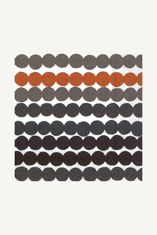 Marimekko Rasymatto Paper Luncheon Napkins Brown