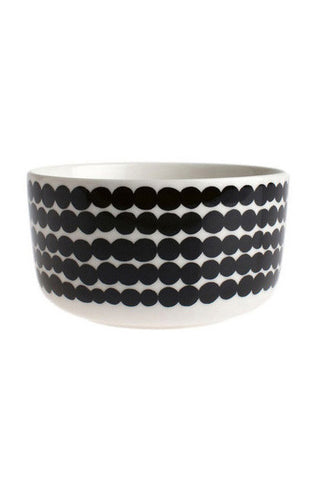 Marimekko Rasymatto Medium Bowl 5 DL Black/White