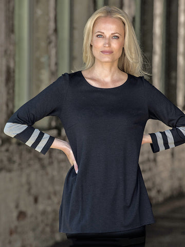Ritva Falla Ella Top Black/Oatmeal