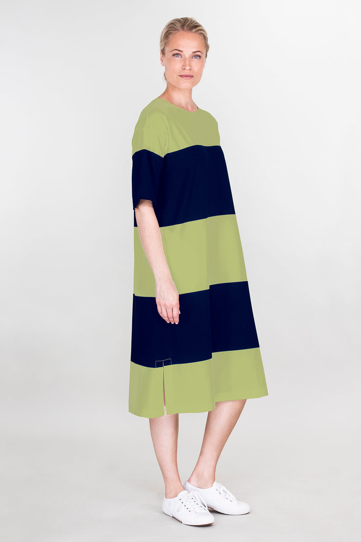 Ritva Falla Enore Dress Navy/Green