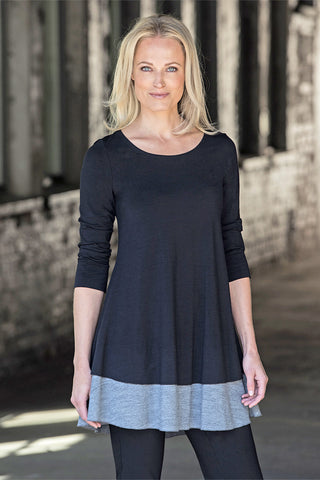 Ritva Falla Fani 1 Tunic Sweater Black/Grey