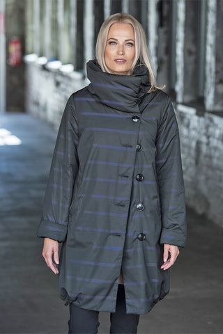 Ritva Falla Ice Coat Black/Blue