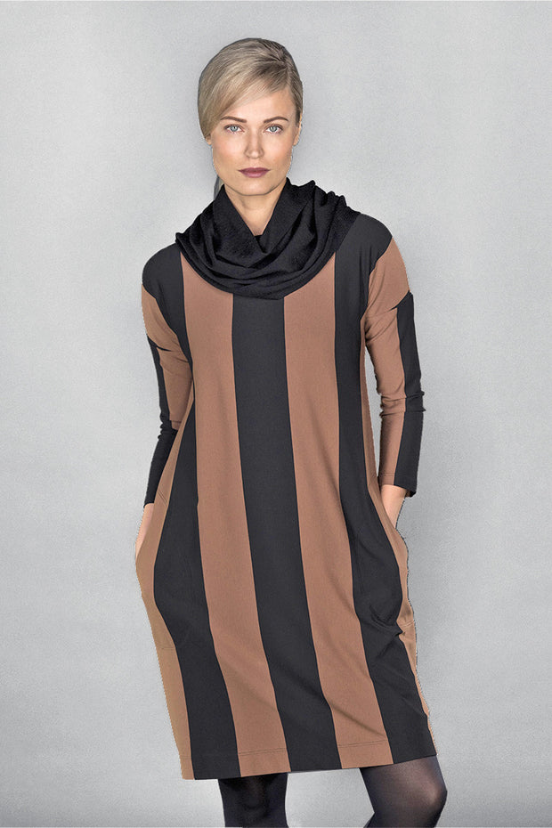 Ritva Falla Ilona Dress Copper/Black