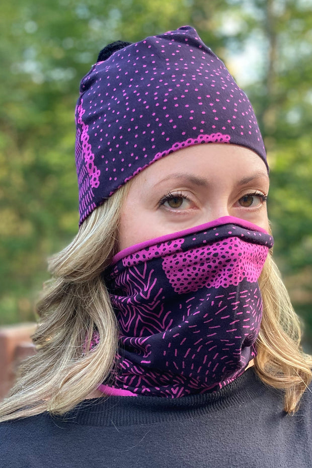 PaaPii Sarka Organic Cotton Tube Scarf Purple