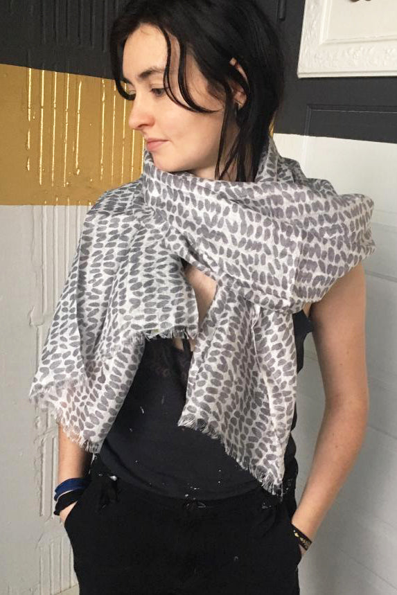 See Design Speck Linen Scarf Coal