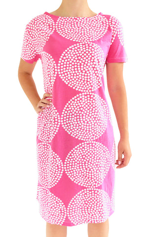 See Design Big Wheels Dress Watermelon/White