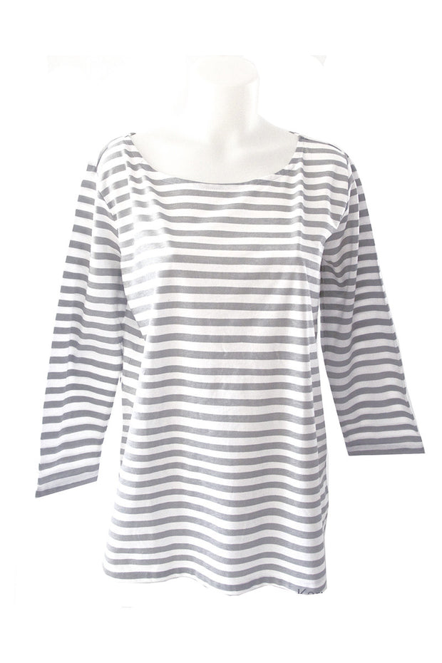 See Design See Design Karma Stripe Shirt Grey/White - KIITOSlife