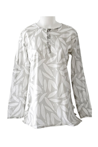 See Design Leaves Caftan Grey/White