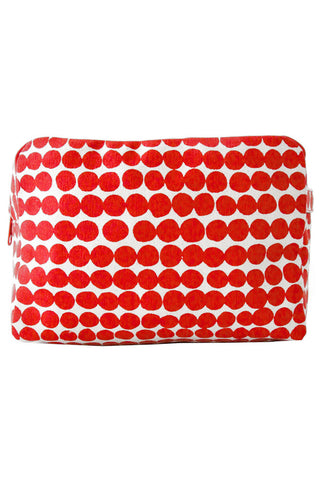 See Design Large Cosmetic Bag Drops Red/White