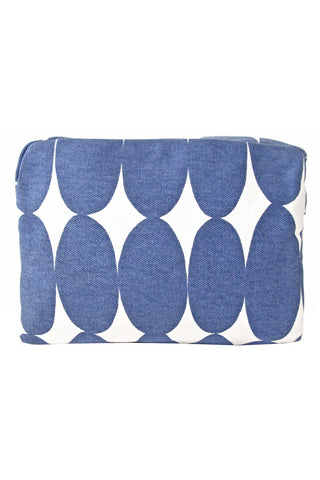 See Design Large Cosmetic Bag Pod Blue/White