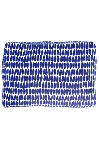 See Design Large Cosmetic Bag Seeds Navy/White