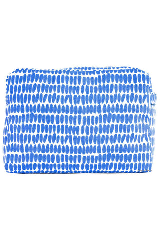 See Design Large Cosmetic Bag Seeds Periwinkle/White