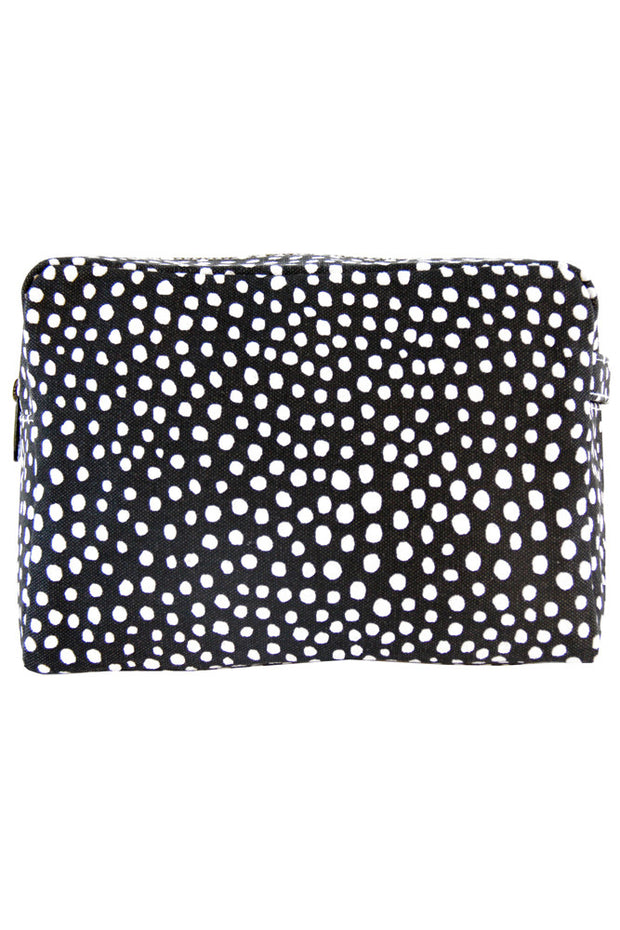 See Design See Design Large Cosmetic Bag Spots Black/White - KIITOSlife