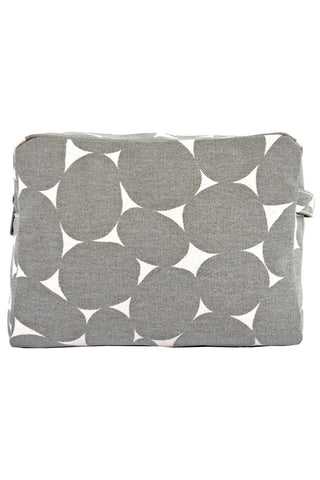 See Design Large Cosmetic Bag Stones Grey