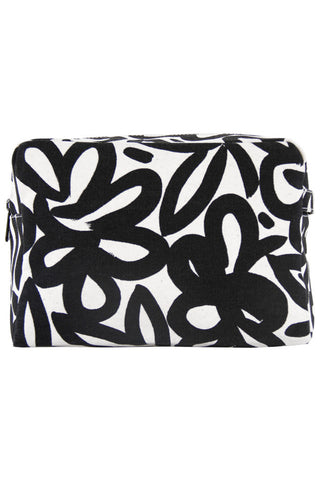 See Design Large Cosmetic Bag Woods Black/White