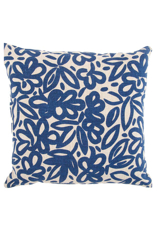 "See Design 20"" Pillow Cover Woods Indigo/Natural"