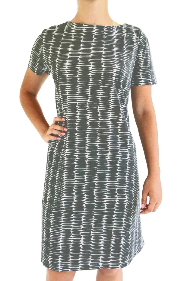 See Design Mini Basket Dress Faded Black/White