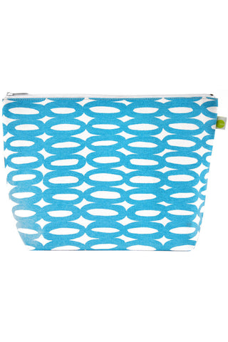 See Design Travel Pouch X-Large Bag Rings Aqua/White