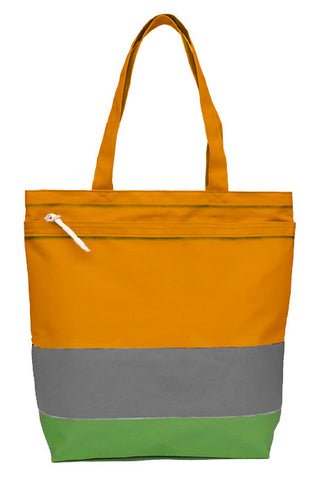 Serigraphy Tokyo Border Bag Silver/Green/Orange