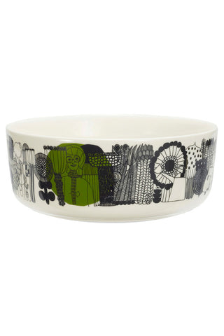 Marimekko Siirtolapuutarha Serving Bowl White/Black/Green