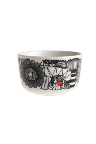 Marimekko Siirtolapuutarha Small Bowl 2.5 DL White/Black/Red