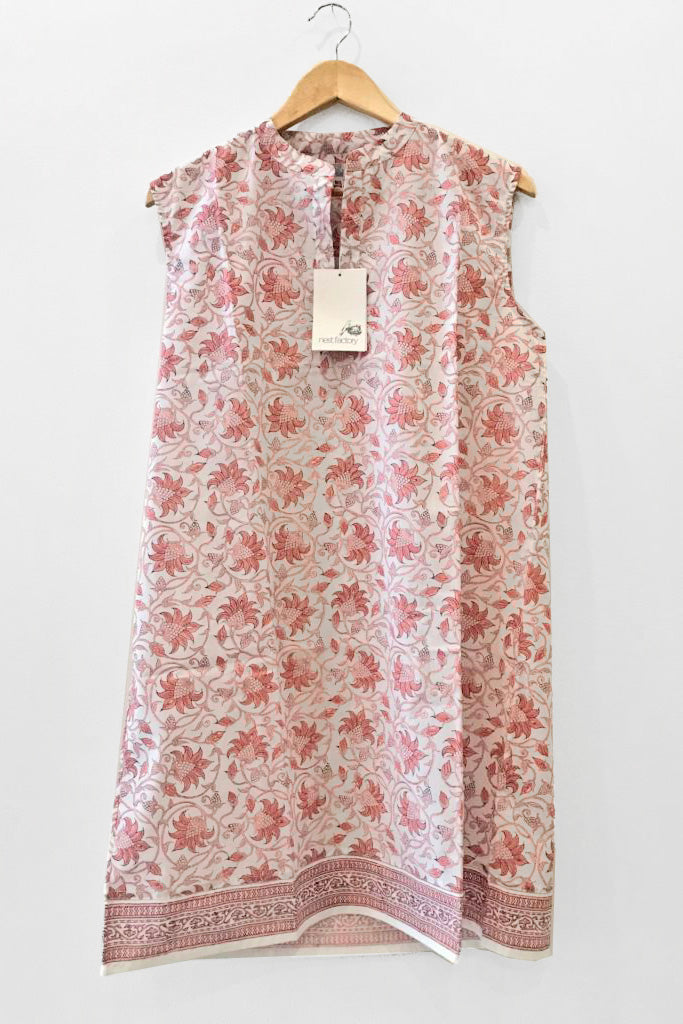 Nest Factory Sleeveless Mini Dress Pink Flower
