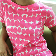 See Design Big Smudge Dress Pink/White