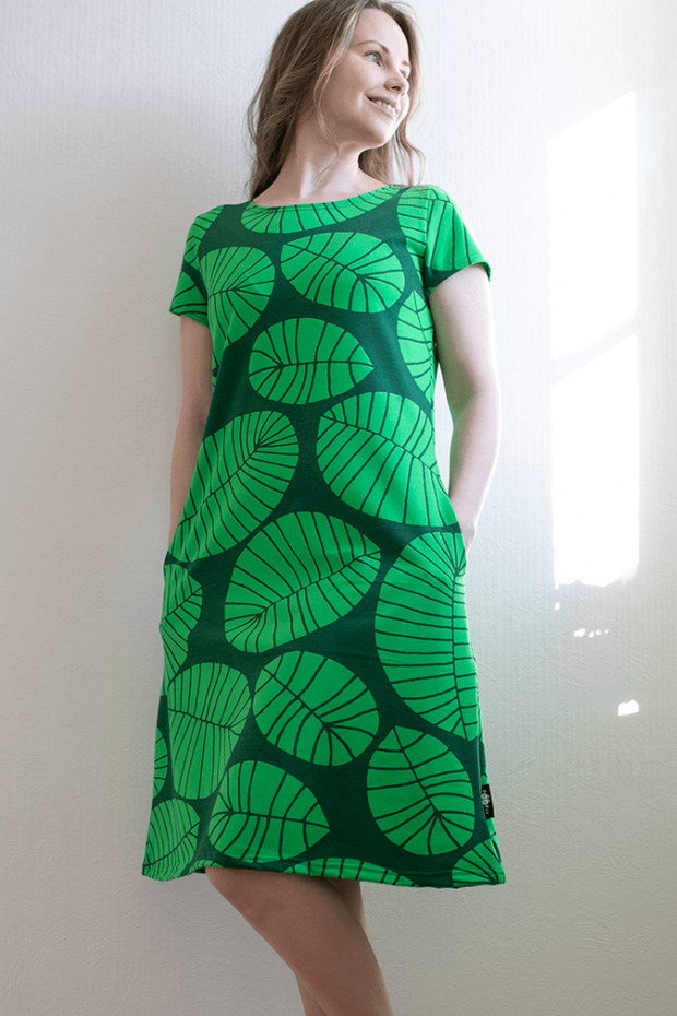 PaaPii Organic Sointu Dress Banana Leaf