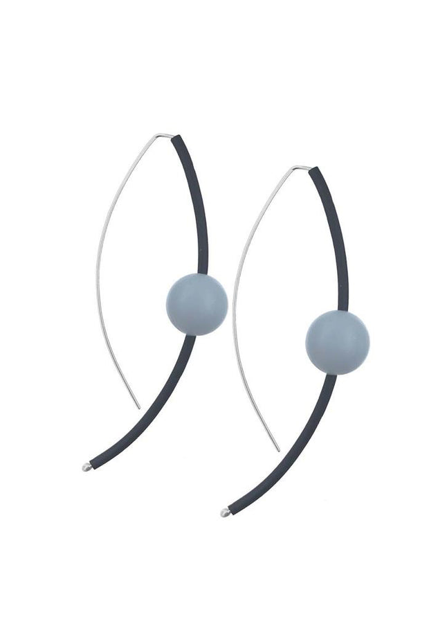 Frank Ideas Sphere Earrings Grey