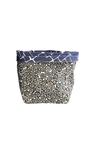 See Design Storage Bin Small Weave Ink/White