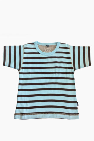 Ristomatti Ratia Kids T-Shirt Blue/Brown