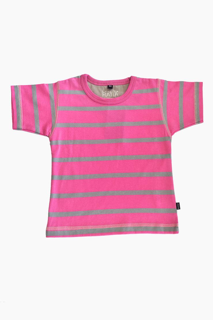 Ristomatti Ratia Kids T-Shirt Pink/Grey