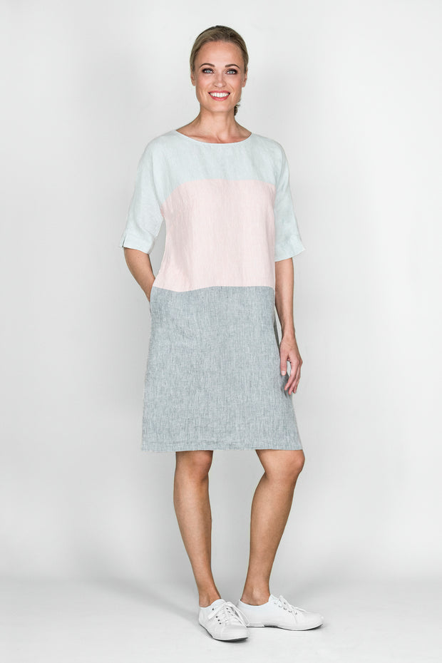 Ritva Falla Tertit Linen Dress Pink