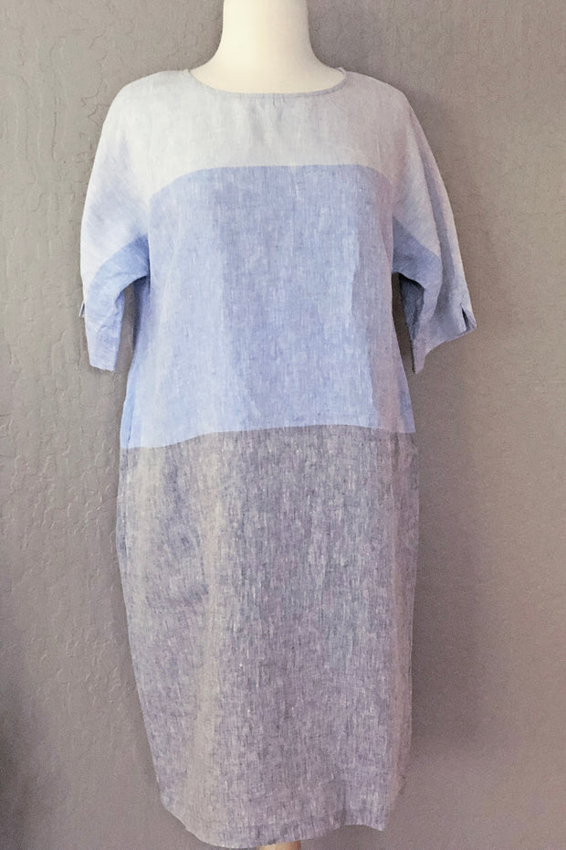 Ritva Falla Tertit Linen Dress Blue