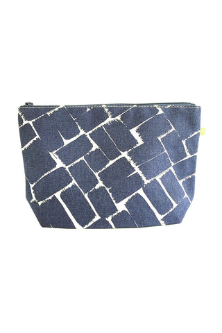 See Design Travel Pouch Large Bag Weave Ink/White
