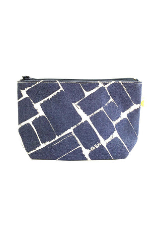 See Design Travel Pouch Small Weave Ink/White