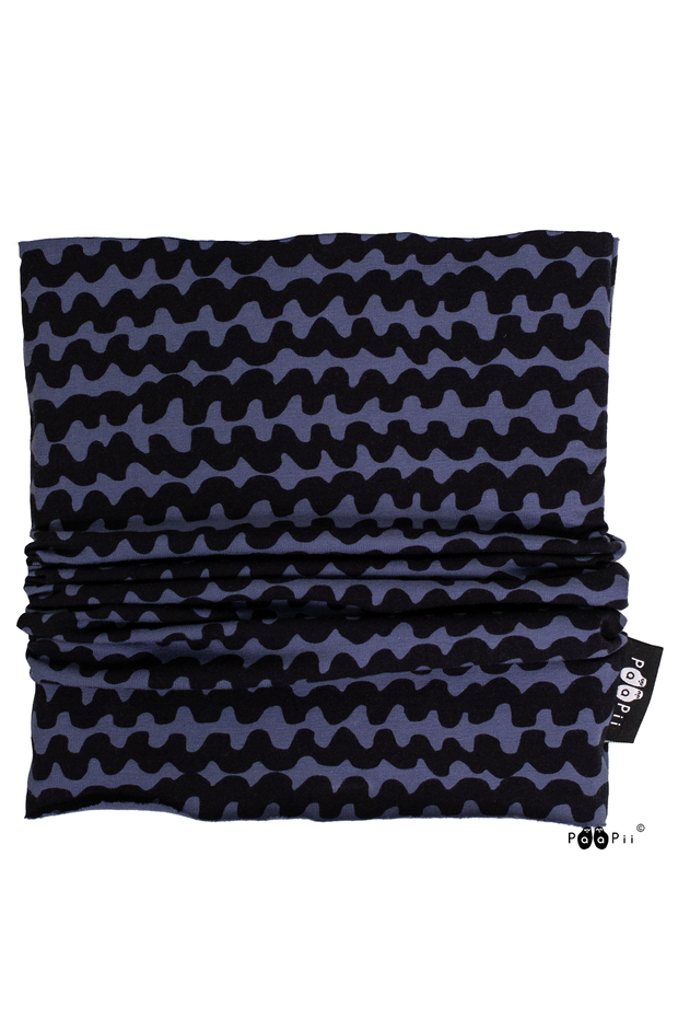PaaPii Haloo Organic Cotton Tube Scarf Blueberry