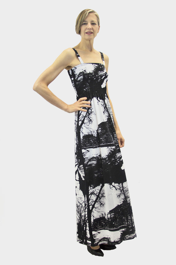 Ristomatti Ratia Espa Tuuli Maxi Dress Black/White