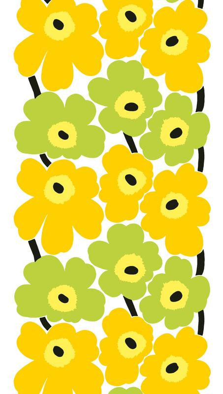 Marimekko Marimekko Unikko Fabric White/Yellow/Lime - KIITOSlife - 1
