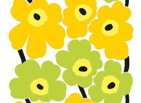 Marimekko Marimekko Unikko Fabric White/Yellow/Lime - KIITOSlife - 2