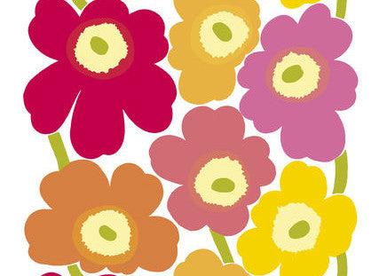 Marimekko Unikko Fabric Pink/Red/Orange