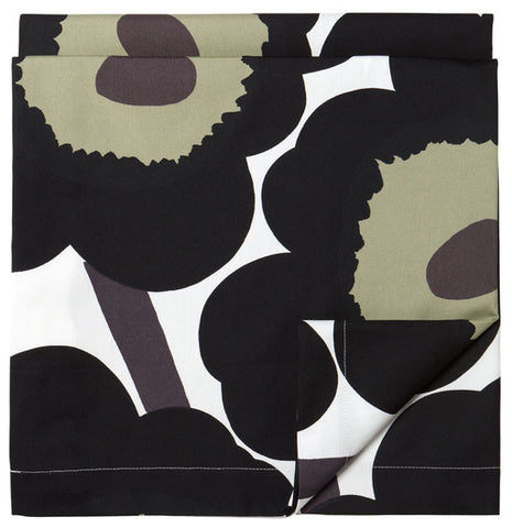 Unikko Tablecloth Black/Khaki/White