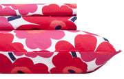 Marimekko Unikko/Pieni Unikko US Sized Bedding Red - KIITOSlife - 4