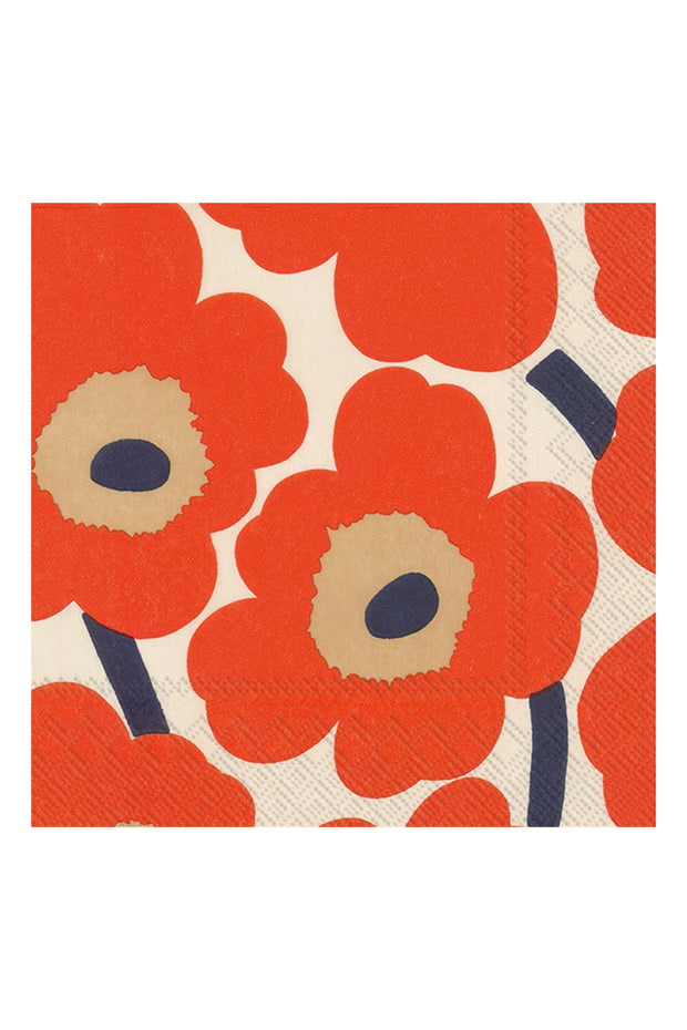 Marimekko Unikko Luncheon Napkins Cream/Red