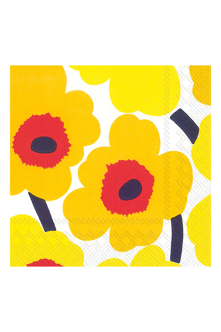 Marimekko Unikko Luncheon Napkins Dark Yellow