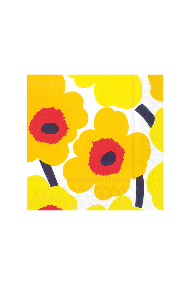 Marimekko Unikko Cocktail Napkins Dark Yellow