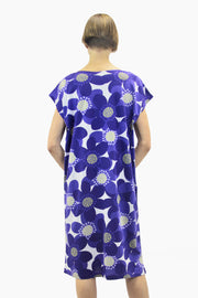 Ristomatti Ratia Sinivuokko Usva Dress Blue/White