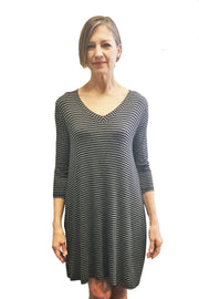 KIITOSlife Kiitoslife Striped Tunic Dress Grey/Black - KIITOSlife - 2