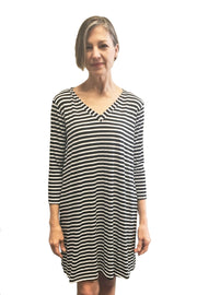 KIITOSlife Kiitoslife Striped Tunic Dress White/Black - KIITOSlife - 4