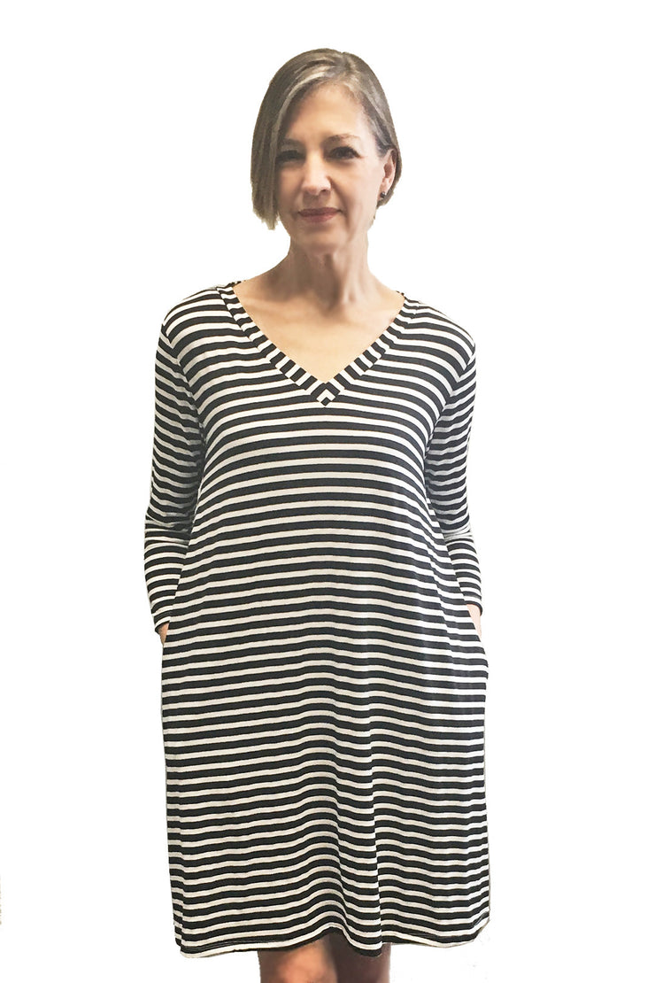 KIITOSlife Kiitoslife Striped Tunic Dress White/Black - KIITOSlife - 5